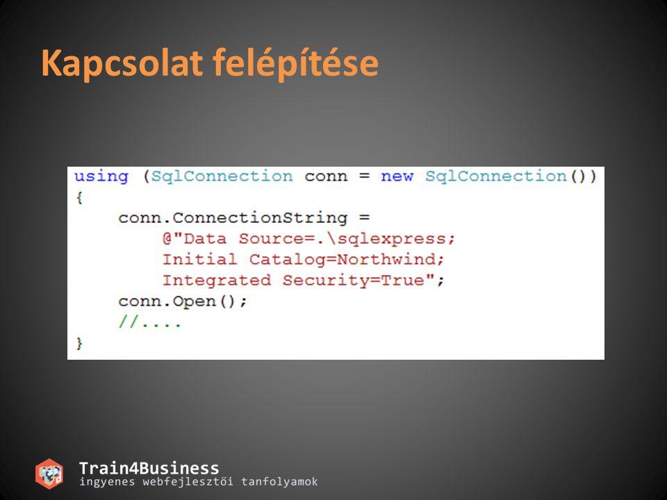 Connection Stringek és a Connection Pool ConnectionString tárolása a web.config-ban – WebConfigurationManager.