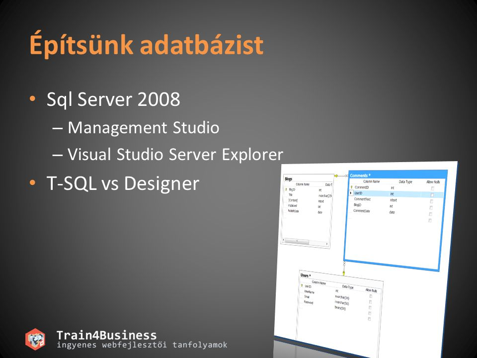 Linq To Sql Adatmodell  DataContext  Entitás osztályok  Metaadatok  Külső XML-ből is  Gazdag leképezési lehetőségek  Öröklés, relációk, tárolt eljárások, függvények  Az egész generálható  Designer, vagy SQLMetal.exe