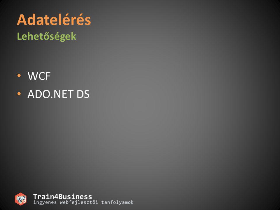 Adatelérés Lehetőségek WCF ADO.NET DS