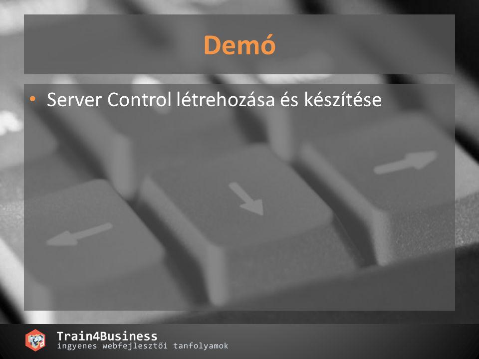 Demó Server Control létrehozása és készítése