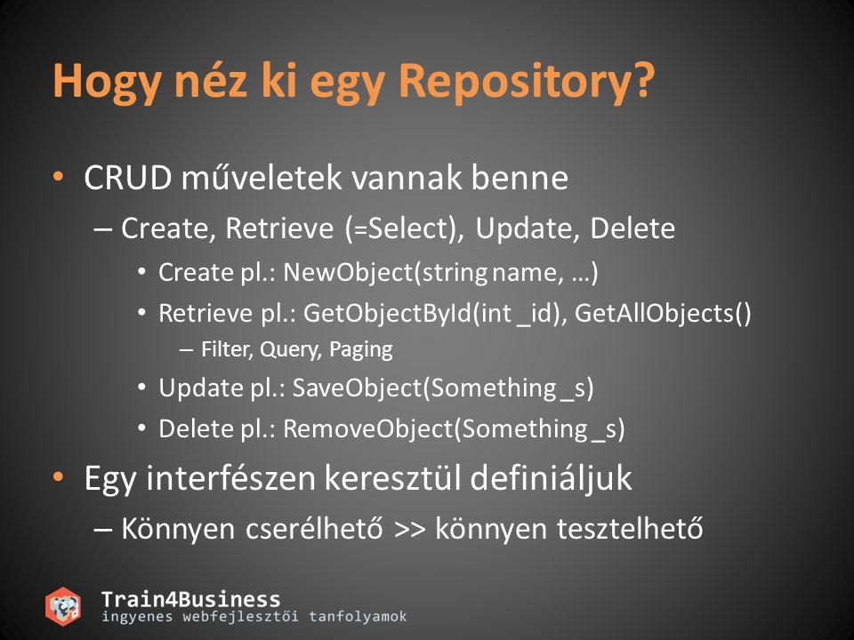 Hogy néz ki egy Repository.