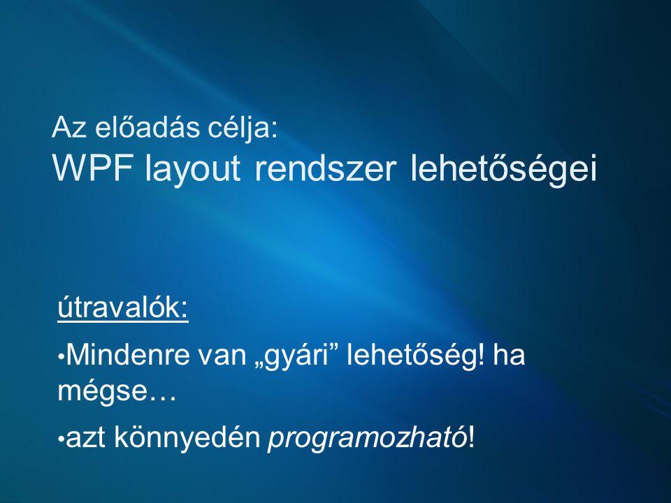 Amiről szó lesz… Alapozás Layout csere Adatsablon Converter-ek Egyedi layout Layout példák