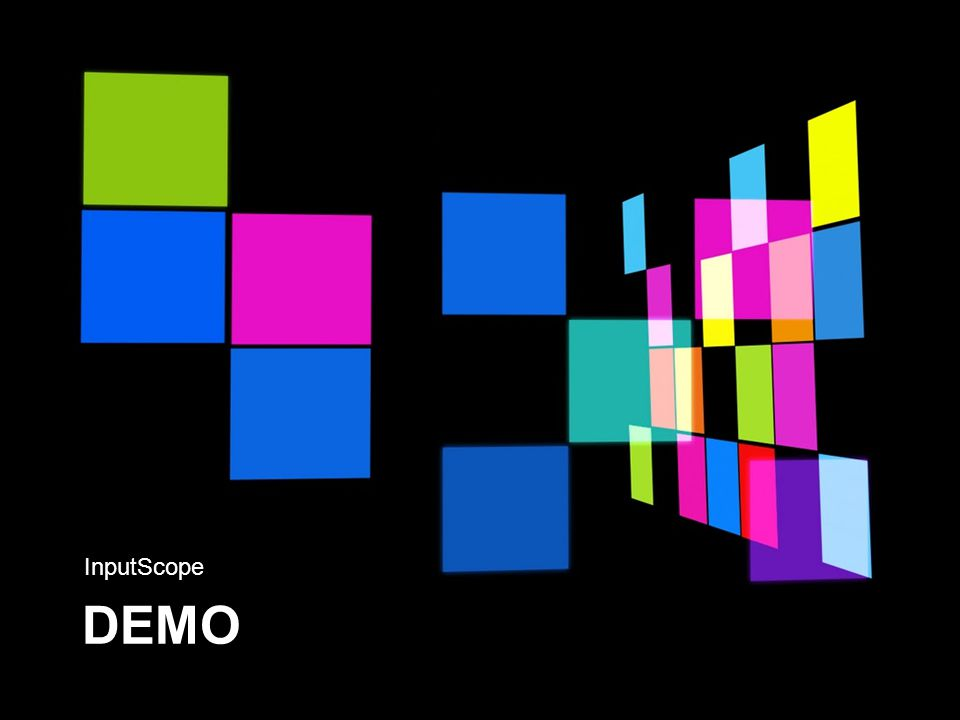 DEMO InputScope
