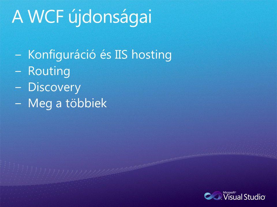Windows Server.NET Framework Windows Server AppFabric Services Management eszközök IIS/WAS Workflows Adatbázisok Persistence Monitoring Hosting Persistence Caching Monitoring IIS Manager Modules PowerShell