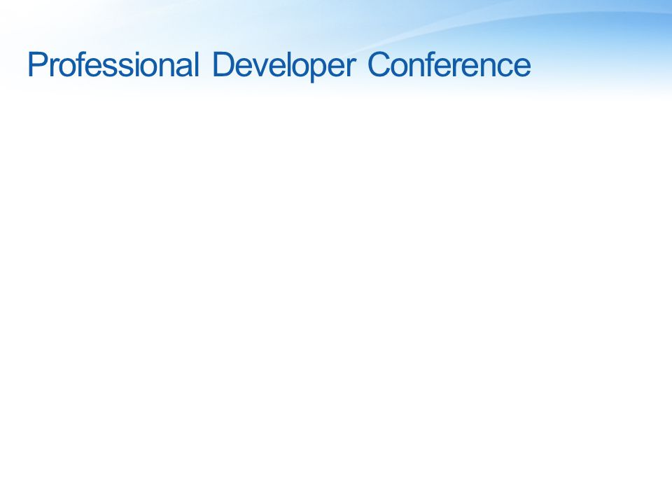 Professional Developer Conference