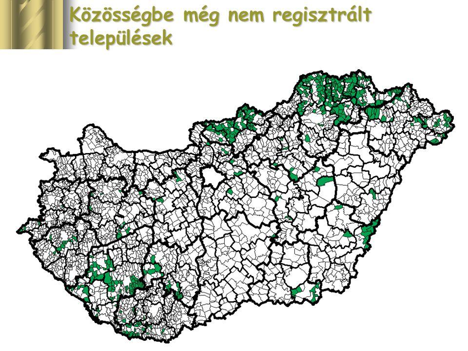 17 Közösségbe még nem regisztrált települések