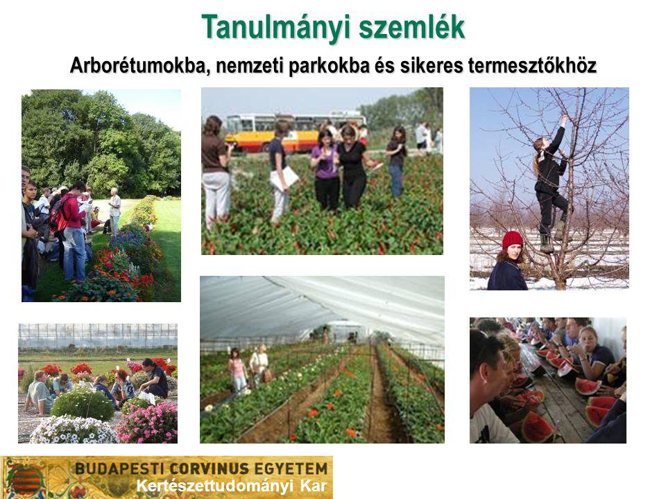 Tanulmányi szemlék Arborétumokba, nemzeti parkokba és sikeres termesztőkhöz Kertészettudományi Kar