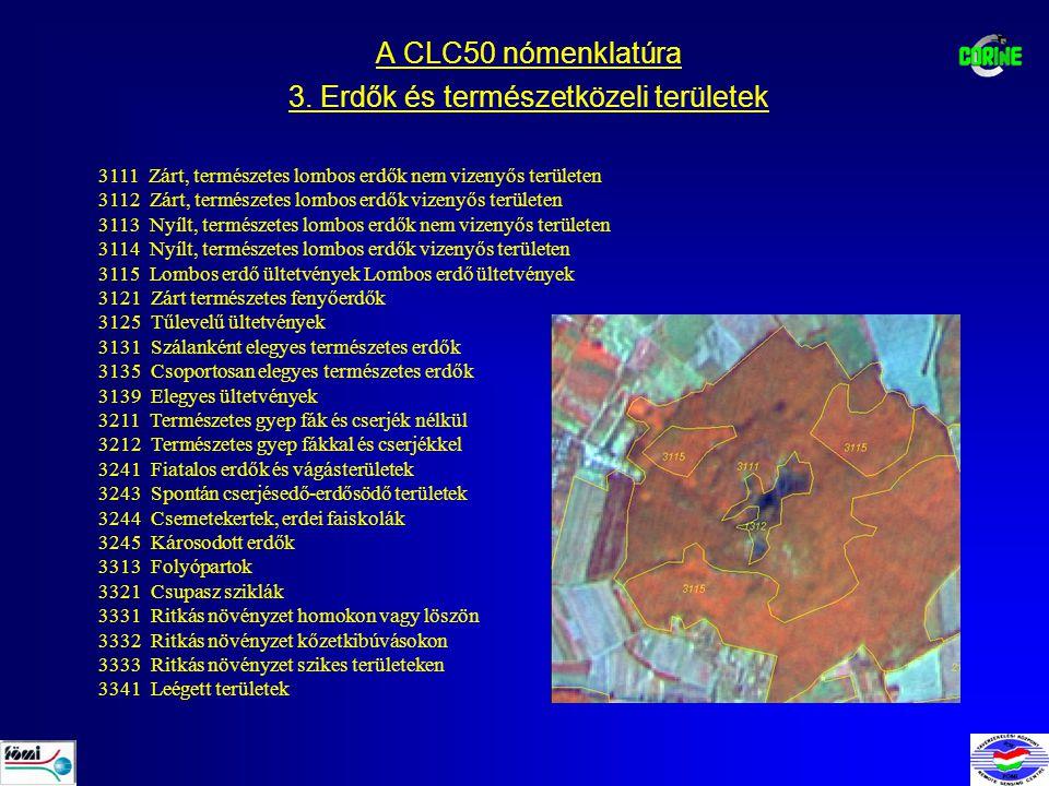A CLC50 nómenklatúra 3.