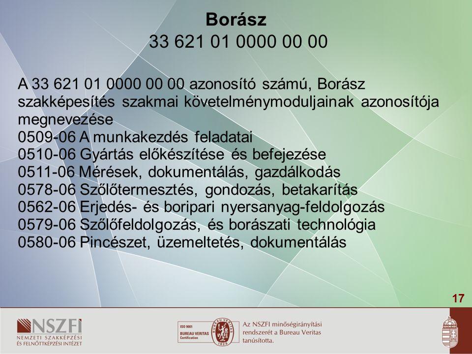 18 Borász 33 621 01 0000 00 00