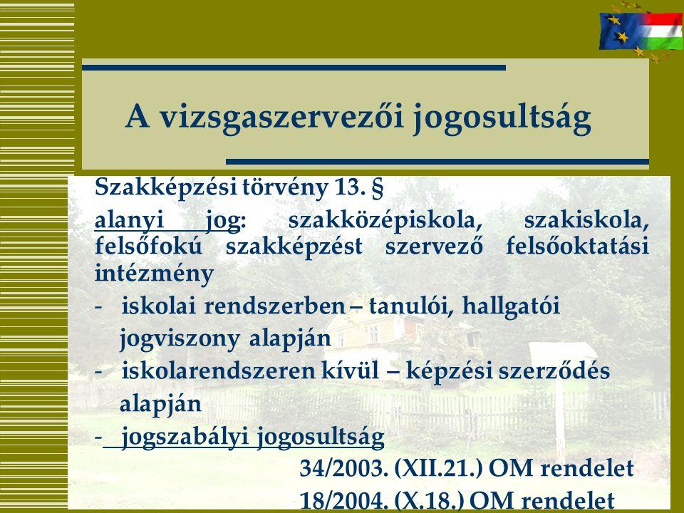 Szakképzési törvény 13.