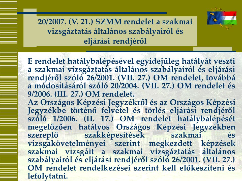 20/2007. (V.