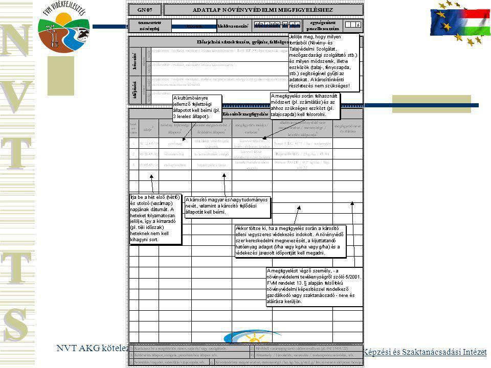 FVM Képzési és Szaktanácsadási Intézet NVT AKG kötelező képzés 2006