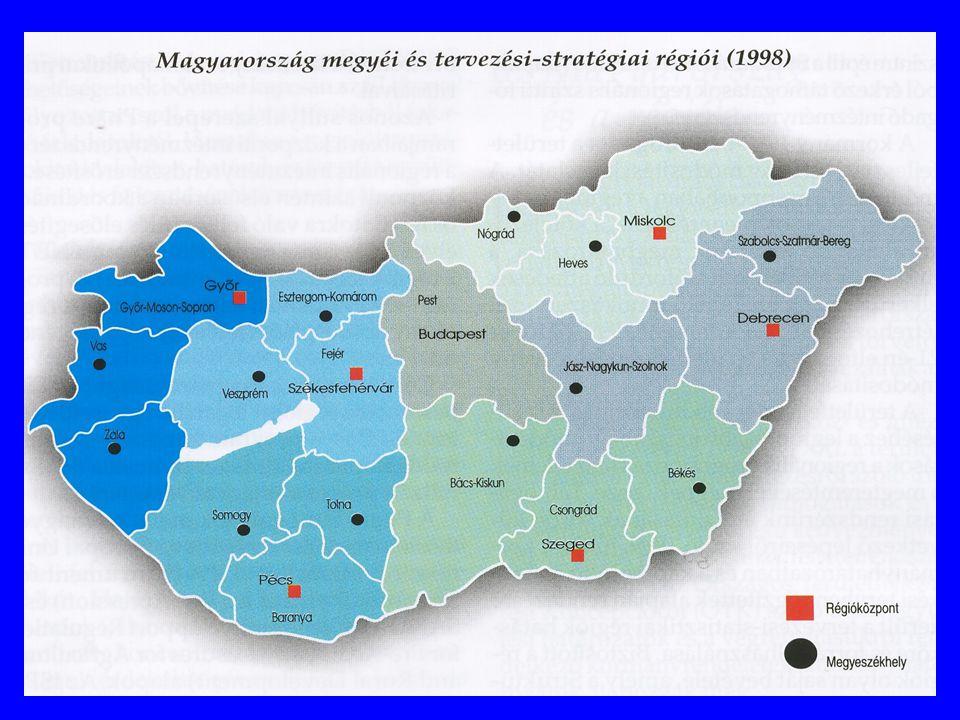 A magyarországi regionális demokrácia jelene és jövője Az Európai Regionális Charta követelményei: Középszintű igazgatási terület-beosztás Választott testület Önálló kompetenciák Gazdasági autonómia A közigazgatási és önkormányzati rendszer átalakítása Megye / régió Település / kistérség