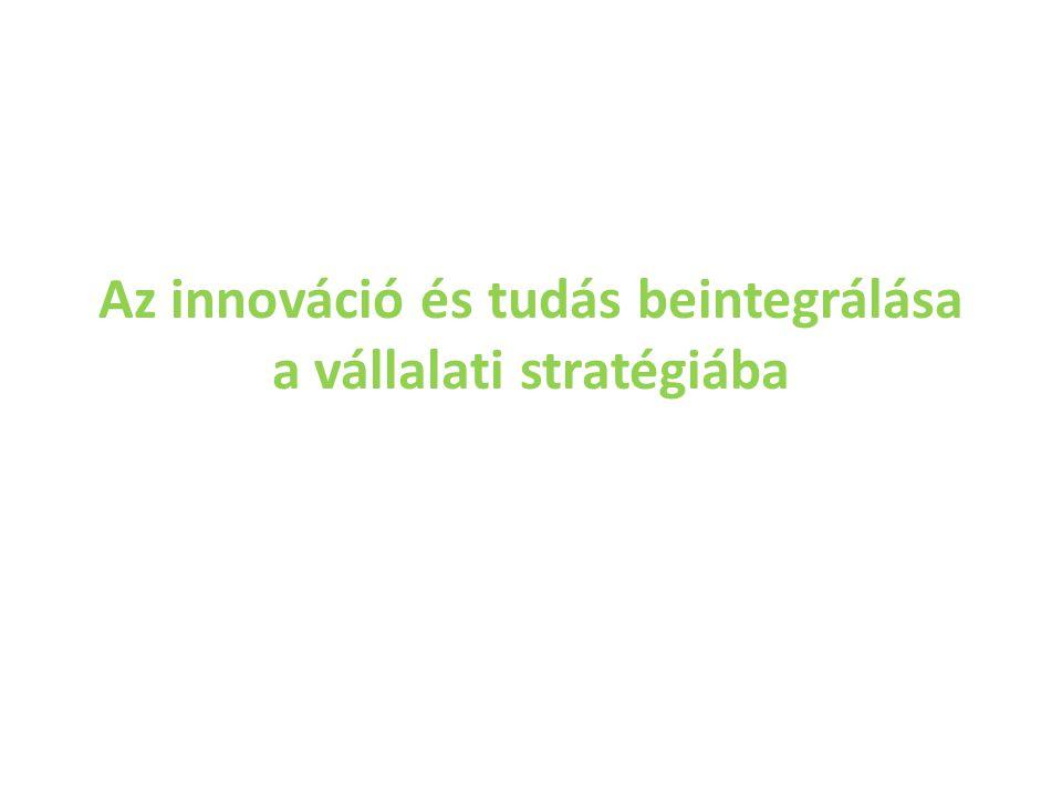 Az innováció és tudás beintegrálása a vállalati stratégiába