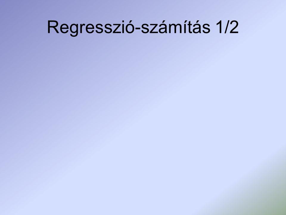 Regresszió-számítás 1/2