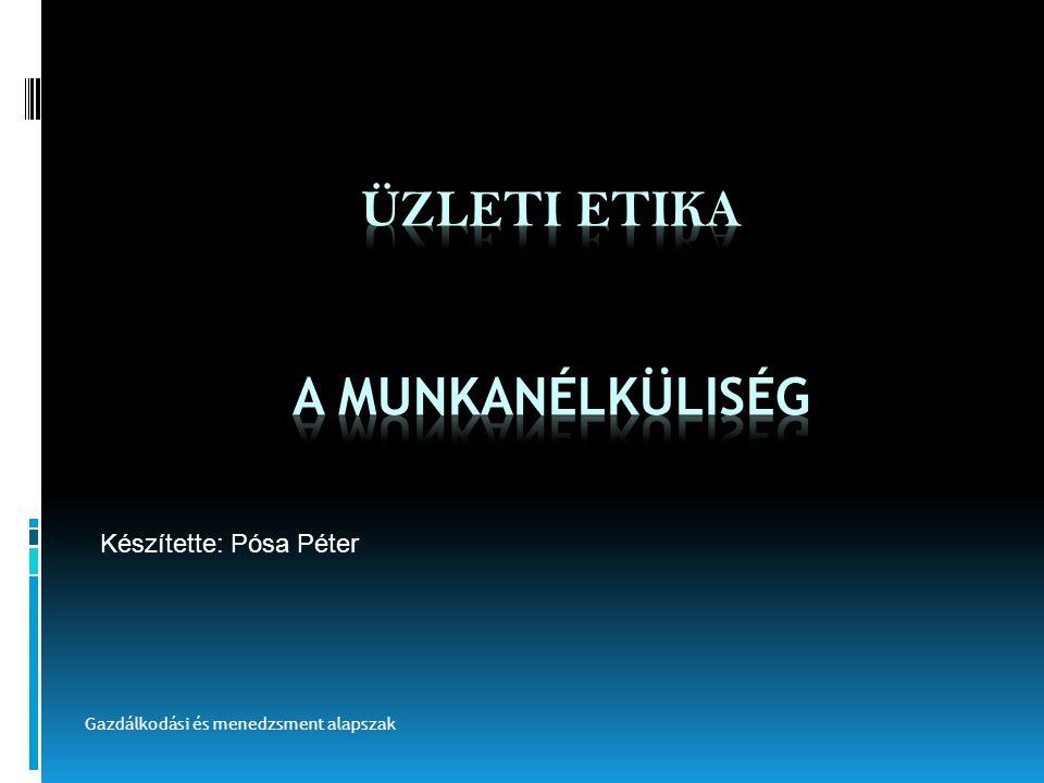 TÉMAKÖRÖK  Magyarország jelenlegi munkanélküliségi helyzete  A munkanélküliség következményei  A munkanélküliség megoldása