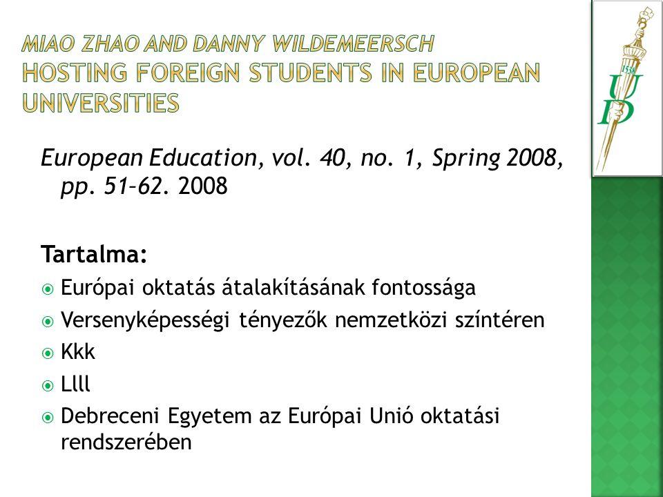 Miért fontos az európai egyetemeknek, hogy megjelenjenek a nemzetközi színtéren.