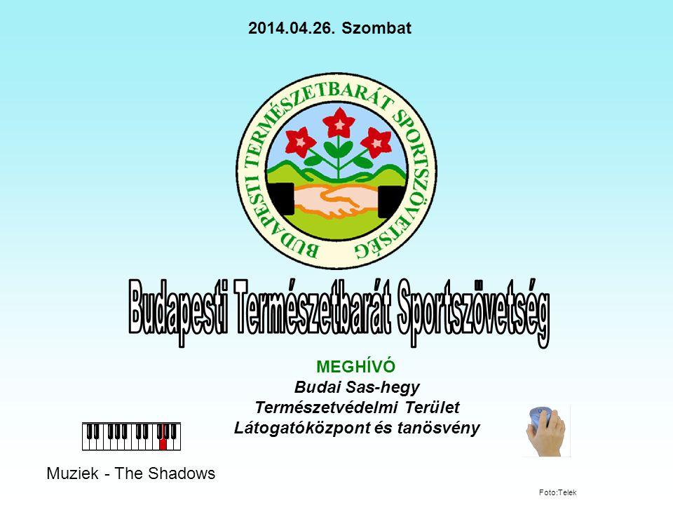 Muziek - The Shadows MEGHÍVÓ Budai Sas-hegy Természetvédelmi Terület Látogatóközpont és tanösvény 2014.04.26.