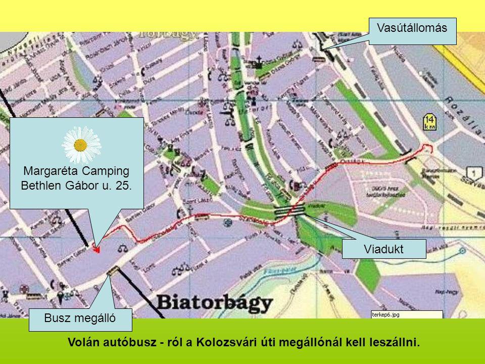 Volán autóbusz - ról a Kolozsvári úti megállónál kell leszállni.