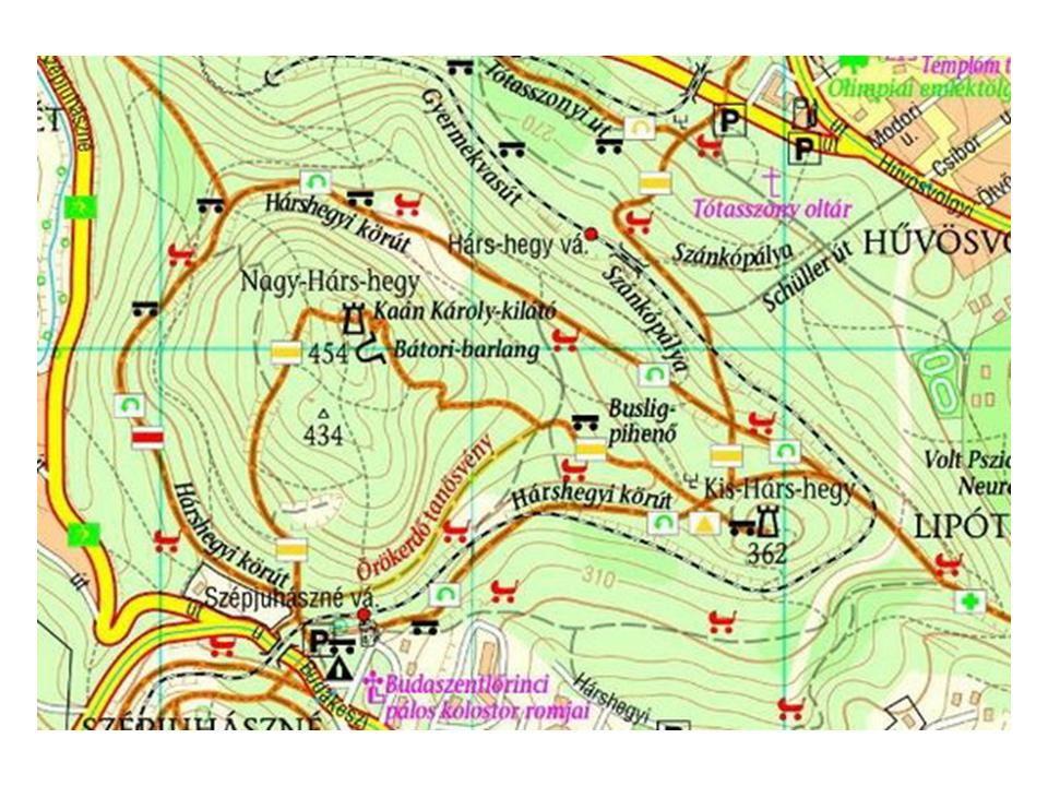 Természetismereti túra Nagy-Hárs-hegyen Egy regélő hegy titkai Földrajzi helyzet, megközelítés A Budai-hegység egyik jól körülhatárolható, önálló része a Hárs- hegy.