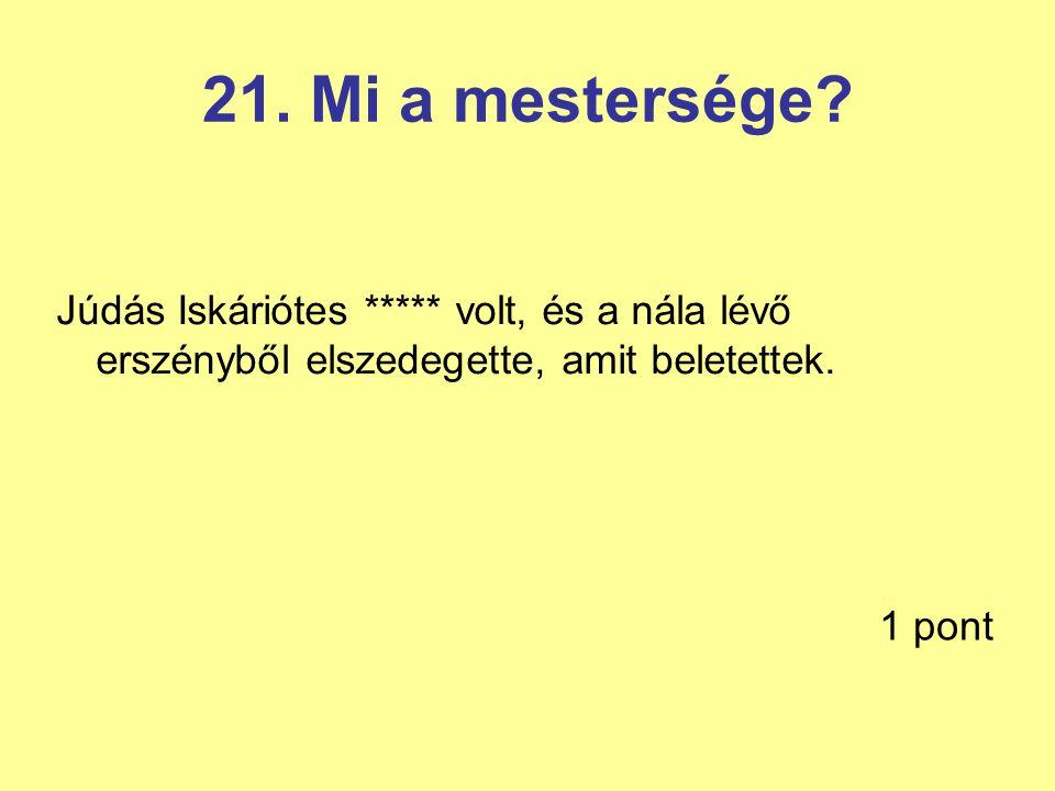 21.Mi a mestersége.