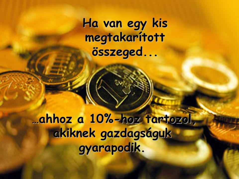 … ahhoz a 10%-hoz tartozol, akiknek gazdagságuk gyarapodik.