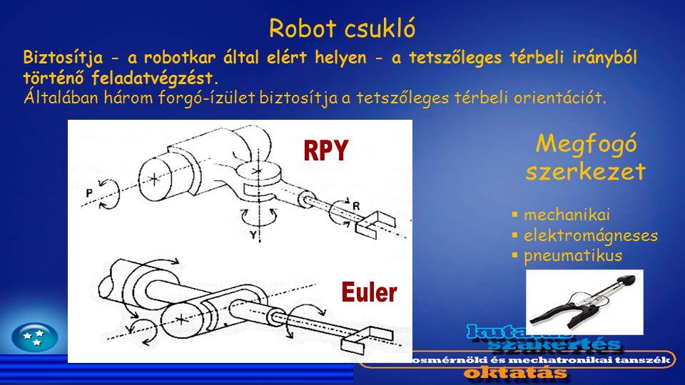 Biztosítja - a robotkar által elért helyen - a tetszőleges térbeli irányból történő feladatvégzést. Általában három forgó-ízület biztosítja a tetszőle