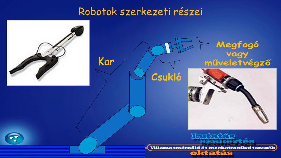 Robotok szerkezeti részei