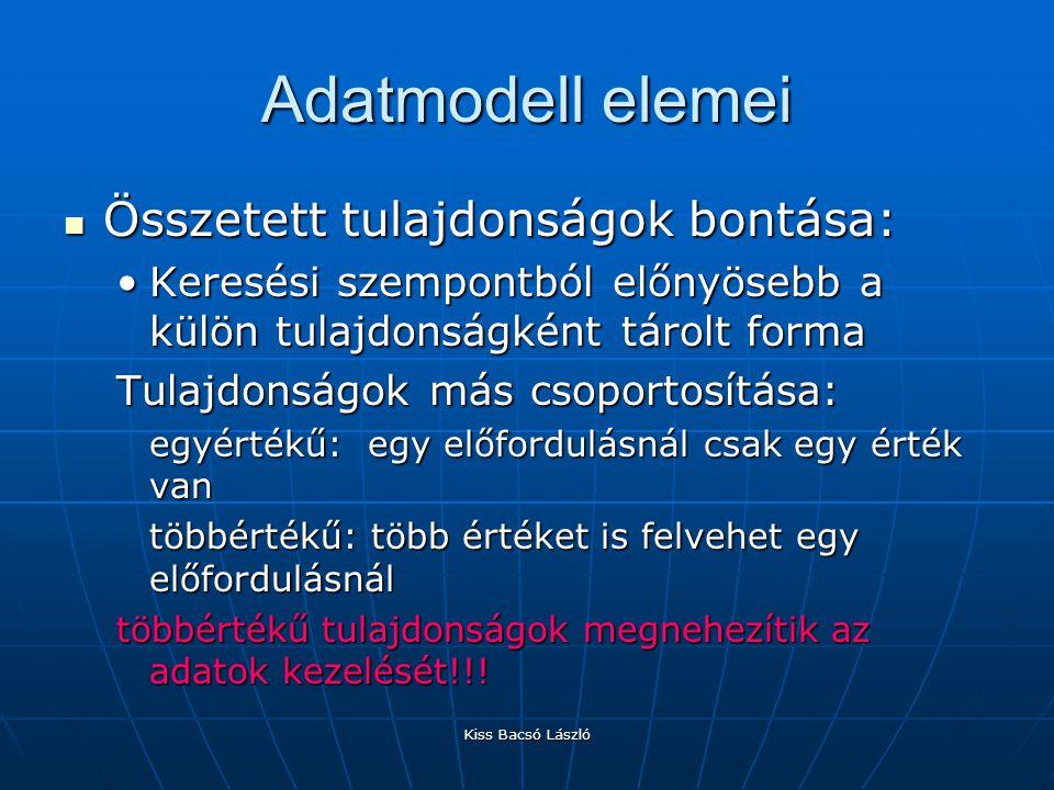 Kiss Bacsó László Adatbázis kialakítása Normálformák: Normálformák: 0.