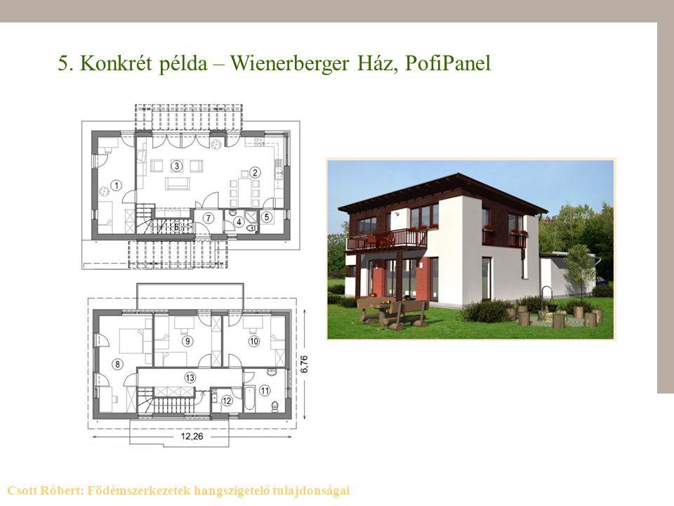 5. Konkrét példa – Wienerberger Ház, PofiPanel Csott Róbert: Födémszerkezetek hangszigetelő tulajdonságai