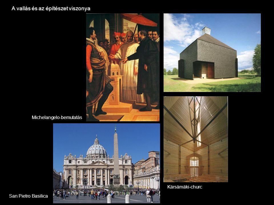A vallás és az építészet viszonya Kärsämäki-churc San Pietro Basilica Michelangelo-bemutatás