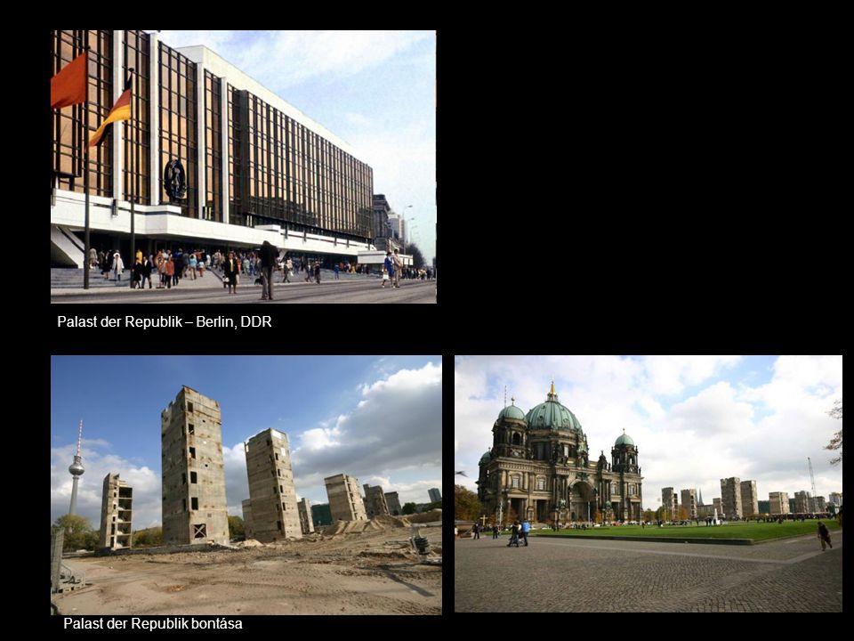 Palast der Republik – Berlin, DDR Palast der Republik bontása