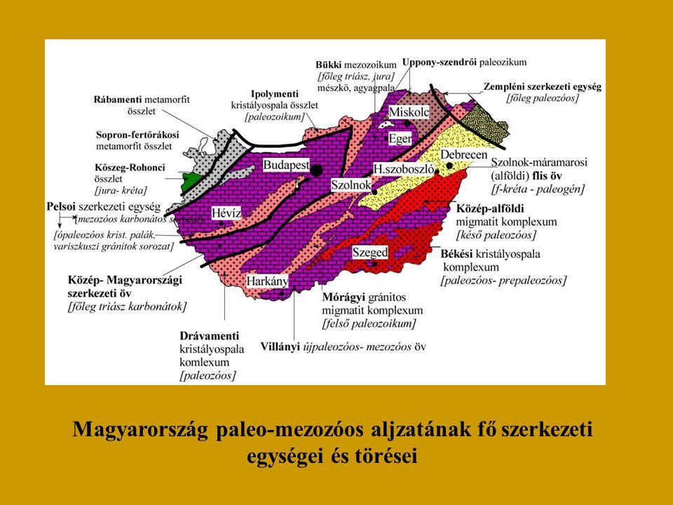 Magyarország paleo-mezozóos aljzatának fő szerkezeti egységei és törései