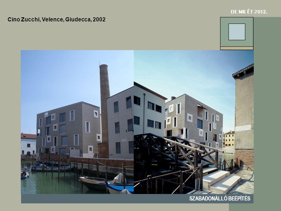 DE MK ÉT 201 2. SZABADONÁLLÓ BEÉPÍTÉS Cino Zucchi, Velence, Giudecca, 2002