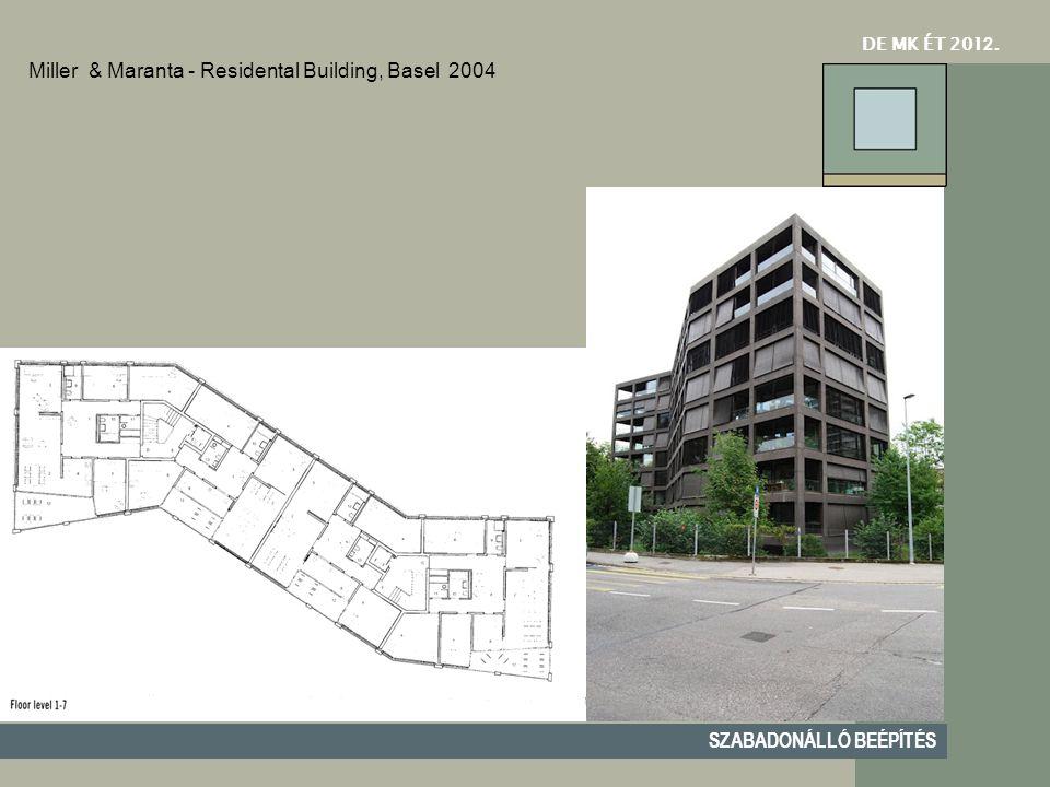 DE MK ÉT 201 2. SZABADONÁLLÓ BEÉPÍTÉS Miller & Maranta - Residental Building, Basel2004
