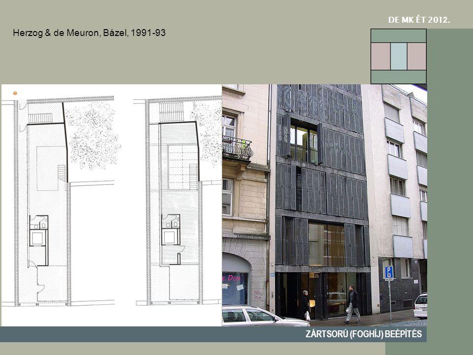 DE MK ÉT 201 2. ZÁRTSORÚ (FOGHÍJ) BEÉPÍTÉS Herzog & de Meuron, Bázel, 1991-93