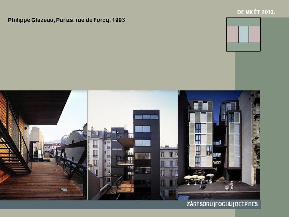 DE MK ÉT 201 2. ZÁRTSORÚ (FOGHÍJ) BEÉPÍTÉS Philippe Glazeau, Párizs, rue de l'orcq, 1993
