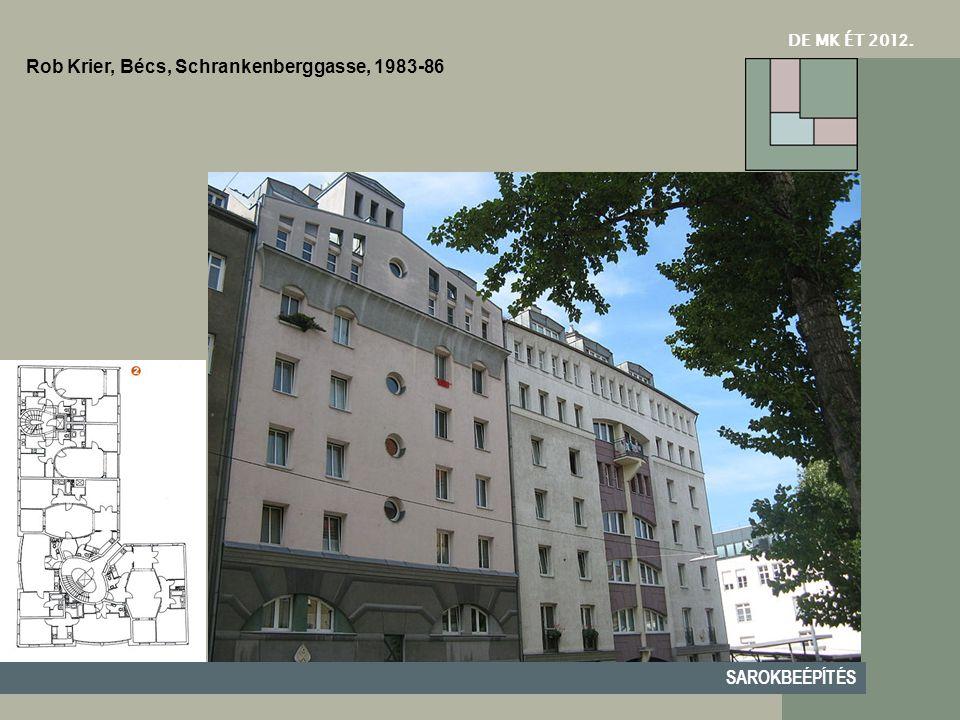 DE MK ÉT 201 2. SAROKBEÉPÍTÉS Rob Krier, Bécs, Schrankenberggasse, 1983-86