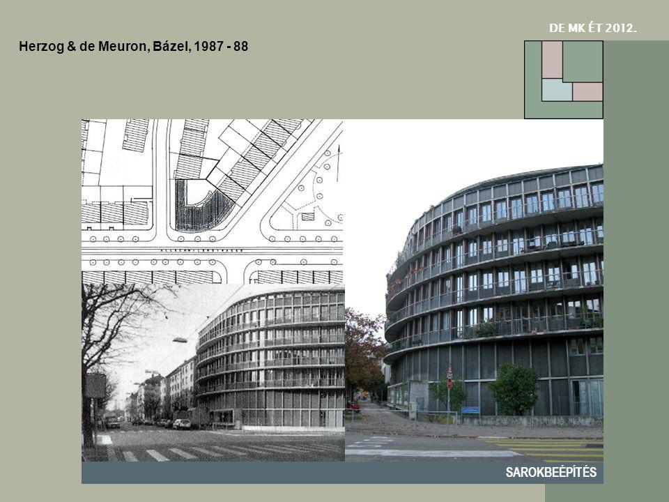 DE MK ÉT 201 2. SAROKBEÉPÍTÉS Herzog & de Meuron, Bázel, 1987 - 88