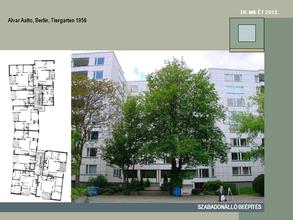 DE MK ÉT 201 2. SZABADONÁLLÓ BEÉPÍTÉS Alvar Aalto, Berlin, Tiergarten 1956