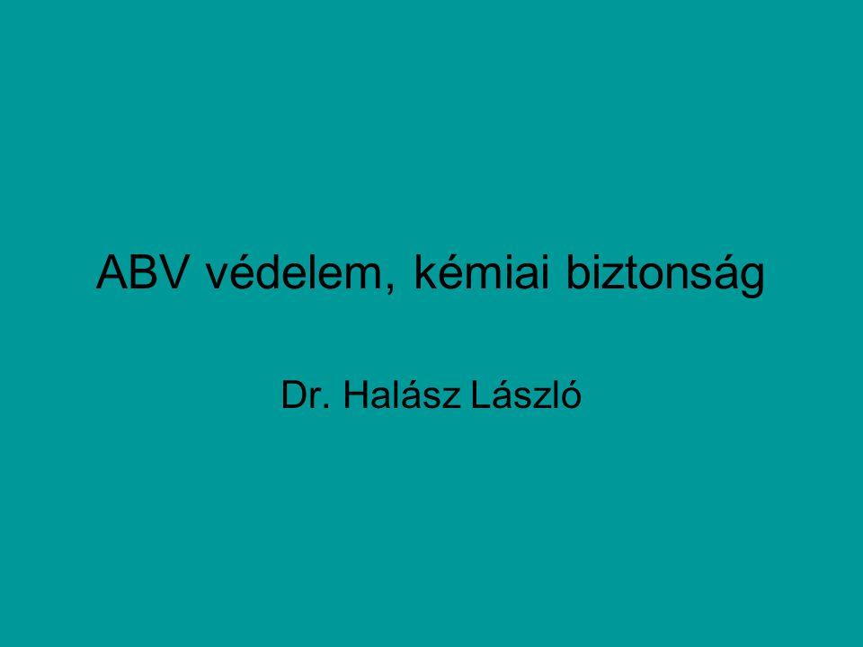 ABV védelem, kémiai biztonság Dr. Halász László