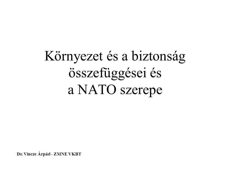 Környezet és a biztonság összefüggései és a NATO szerepe Dr. Vincze Árpád - ZMNE VKBT