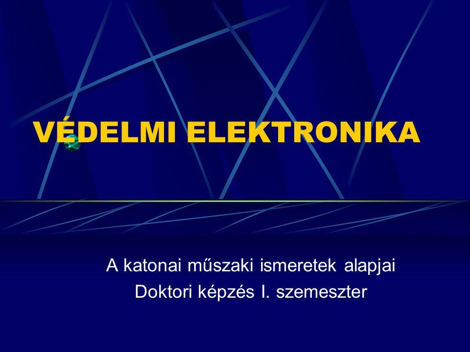 VÉDELMI ELEKTRONIKA A védelmi elektronika tudományszak fő területei, kutatási irányai.