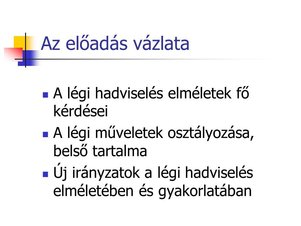 Irodalom (1) Dr.Ruttai – Dr. Krajnc: A magyar légierő doktrinális alapjai (egyetemi jegyzet) Dr.