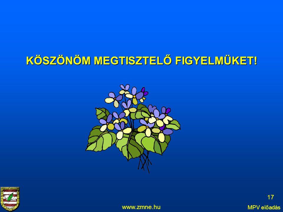 www.zmne.hu MPV előadás 17 KÖSZÖNÖM MEGTISZTELŐ FIGYELMÜKET!