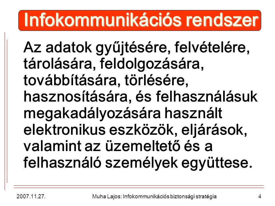 2007.11.27.Muha Lajos: Infokommunikációs biztonsági stratégia15 Végrehajtás!.
