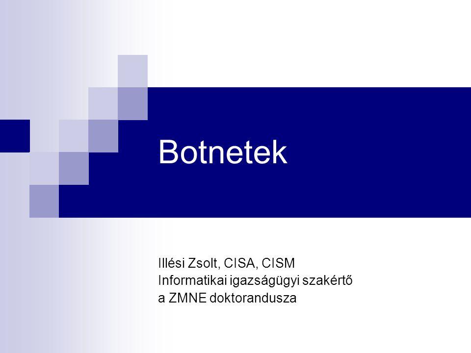 Botnetek Illési Zsolt, CISA, CISM Informatikai igazságügyi szakértő a ZMNE doktorandusza