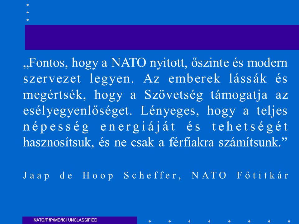 """""""Fontos, hogy a NATO nyitott, őszinte és modern szervezet legyen."""