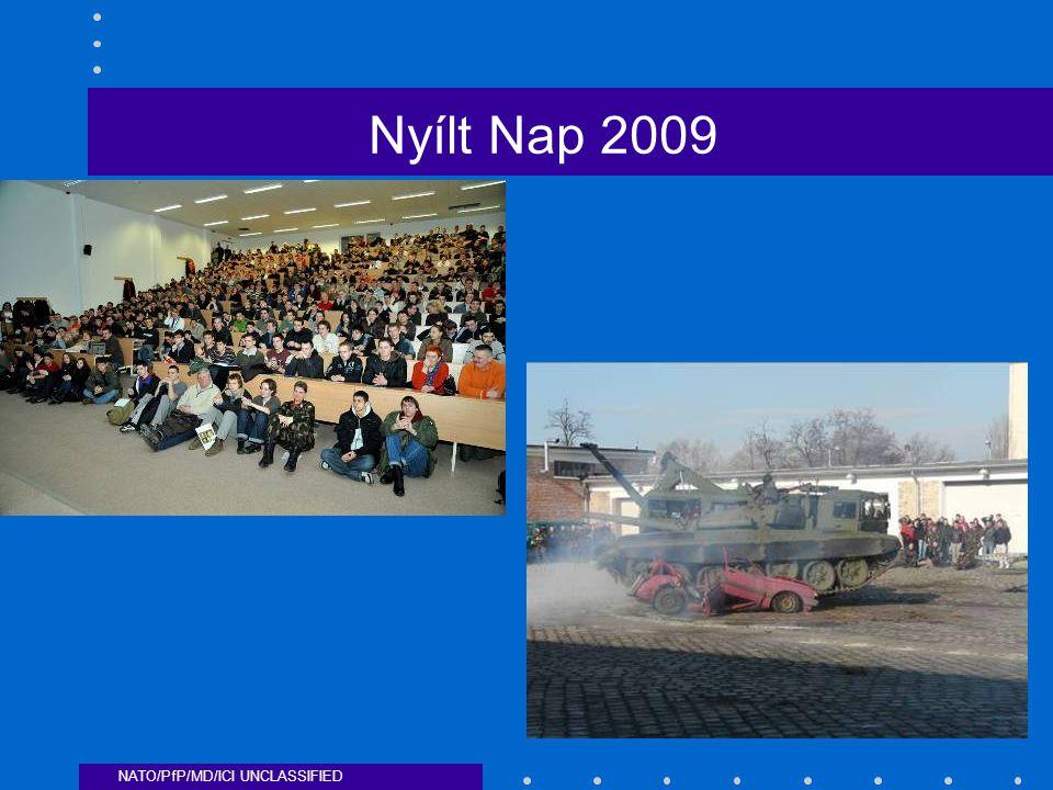 NATO/PfP/MD/ICI UNCLASSIFIED Nyílt Nap 2009