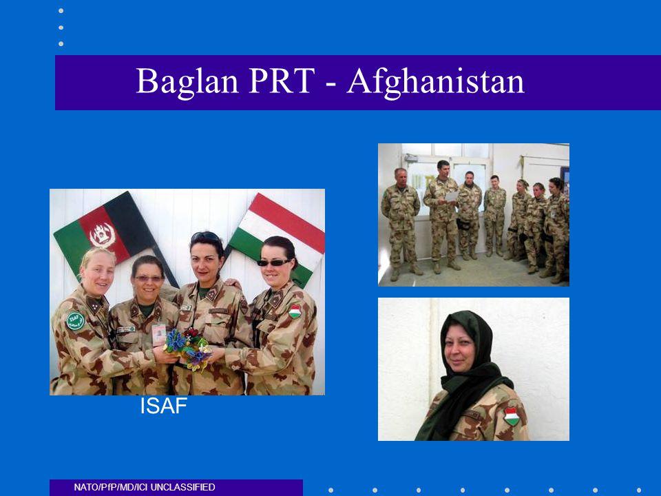NATO/PfP/MD/ICI UNCLASSIFIED Baglan PRT - Afghanistan ISAF